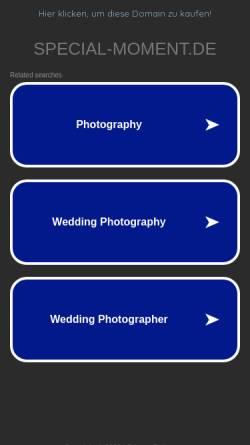 Vorschau der mobilen Webseite www.special-moment.de, Special Moment