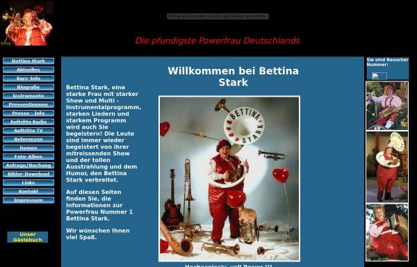 Vorschau von www.bettina-stark-entertainment.de, Stark, Bettina