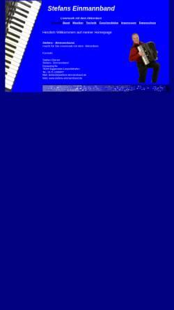 Vorschau der mobilen Webseite www.stefans-einmannband.de, Stefan's Einmannband