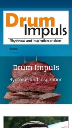 Vorschau der mobilen Webseite www.die-trommel-ruft.de, Die Trommel ruft