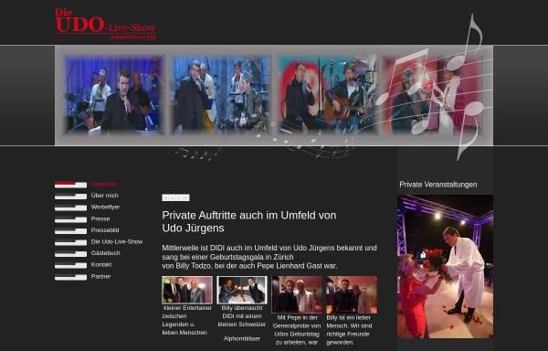 Vorschau von www.udo-live-show.de, Udo Live-Show - Dietmar Veauthier