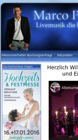 Vorschau der mobilen Webseite www.uwes-musikexpress.de, Uwes Musikexpress