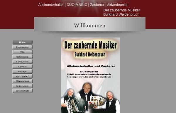 Vorschau von www.der-zaubernde-musiker.de, Weidenbruch, Burkhard