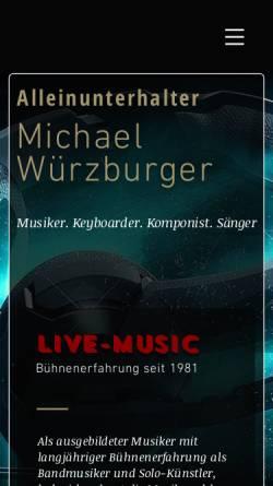 Vorschau der mobilen Webseite www.live-alleinunterhalter.de, Würzburger, Michael