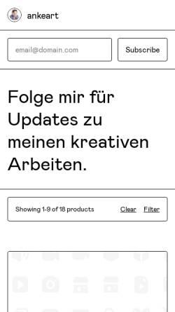 Vorschau der mobilen Webseite www.anke-art.de, Anke-Art-Fonts
