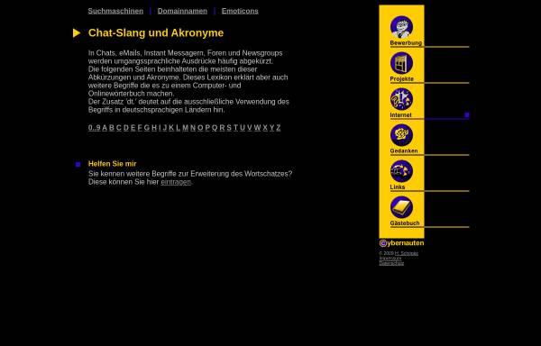 Vorschau von www.hschoepke.de, Chat-Slang und Akronyme