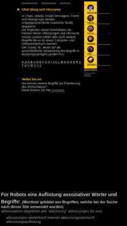 Vorschau der mobilen Webseite www.hschoepke.de, Chat-Slang und Akronyme