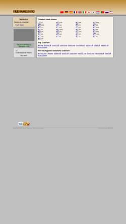 Vorschau der mobilen Webseite www.dateiname.info, Dateiname.info