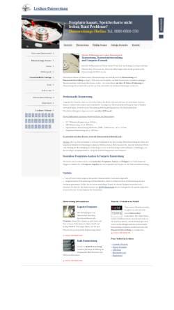 Vorschau der mobilen Webseite www.lexikon-datenrettung.de, Datenrettungs-Lexikon