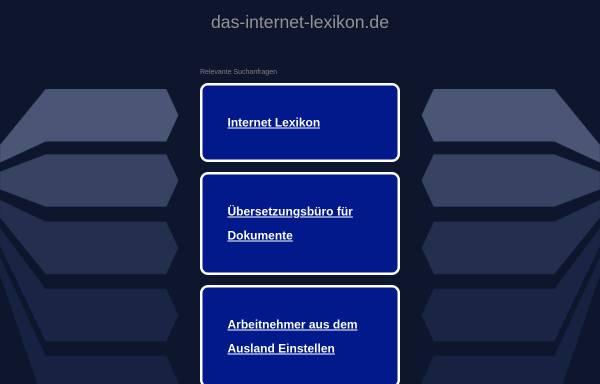 Vorschau von www.das-internet-lexikon.de, Lexikon um das World Wide Web