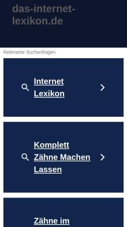 Vorschau der mobilen Webseite www.das-internet-lexikon.de, Lexikon um das World Wide Web