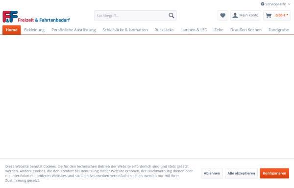 Vorschau von www.fahrtenbedarf.de, Freizeit- und Fahrtenbedarf GmbH