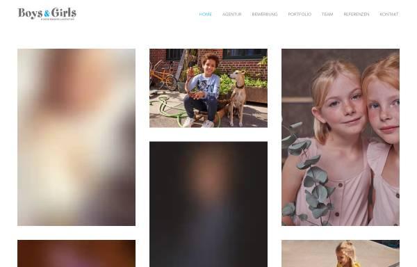 Vorschau von www.boys-and-girls.de, Boys and Girls Kindermodelagentur