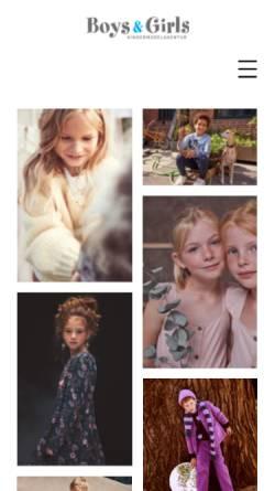 Vorschau der mobilen Webseite www.boys-and-girls.de, Boys and Girls Kindermodelagentur