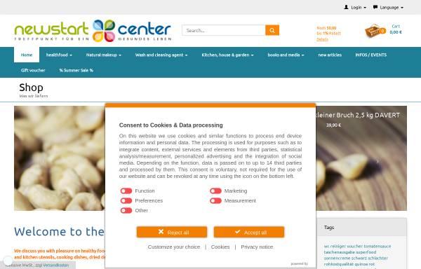 Vorschau von www.newstartcenter.biz, Newstartcenter, Marius Fickenscher