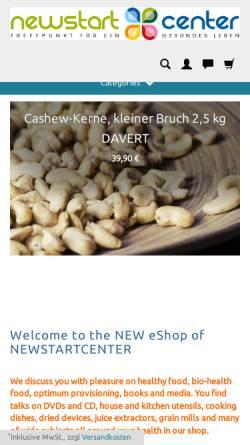 Vorschau der mobilen Webseite www.newstartcenter.biz, Newstartcenter, Marius Fickenscher