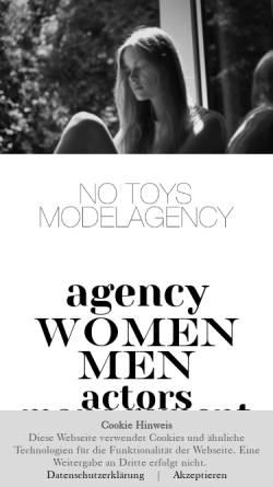 Vorschau der mobilen Webseite www.notoys.de, NoToys Modelagency