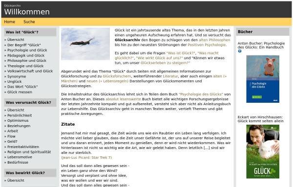 Vorschau von www.gluecksarchiv.de, Glücksarchiv