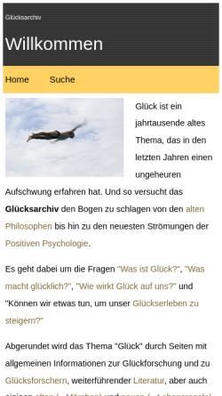 Vorschau der mobilen Webseite www.gluecksarchiv.de, Glücksarchiv
