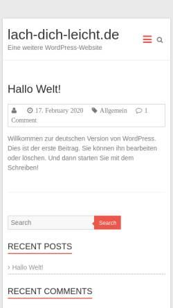 Vorschau der mobilen Webseite www.lach-dich-leicht.de, William Drucks