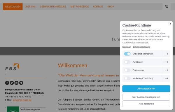 Vorschau von www.fbs.berlin, Fuhrpark Business Service GmbH