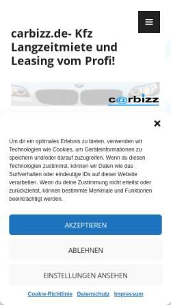 Vorschau der mobilen Webseite www.langzeitmiete-leasing.de, Peuker, Burkhard