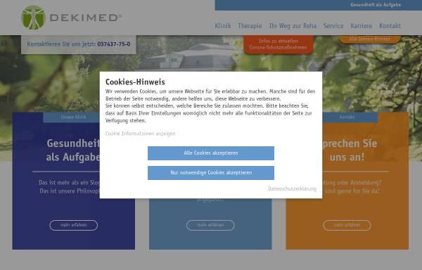 Vorschau von www.dekimed.de, Deutsche Klinik für Integrative Medizin und Naturheilverfahren