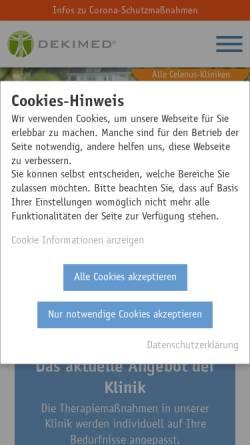 Vorschau der mobilen Webseite www.dekimed.de, Deutsche Klinik für Integrative Medizin und Naturheilverfahren