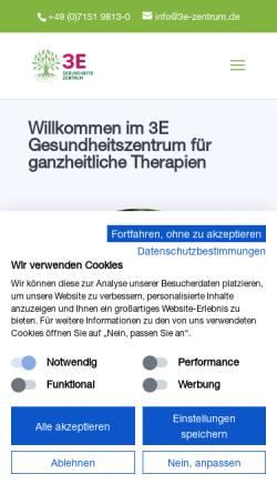 Vorschau der mobilen Webseite www.3e-zentrum.de, 3E-Zentrum
