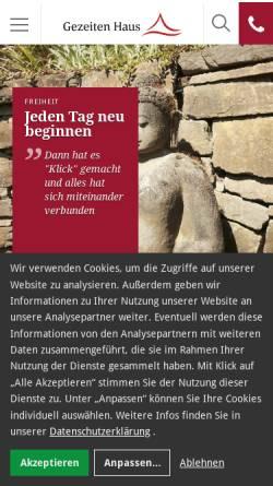 Vorschau der mobilen Webseite www.gezeitenhaus.de, Gezeiten Haus Klinikum AG