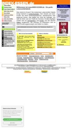Vorschau der mobilen Webseite www.index-essen.de, Index-Essen