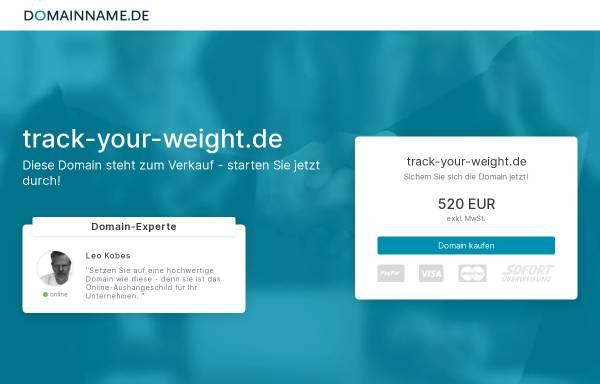 Vorschau von www.track-your-weight.de, Track-Your-Weight