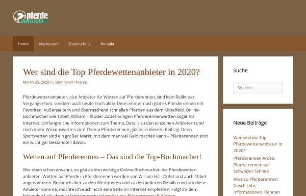 Vorschau von www.pferdediebstahl.de, Pferdediebstahl.de
