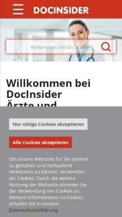 Vorschau der mobilen Webseite www.docinsider.de, DocInsider