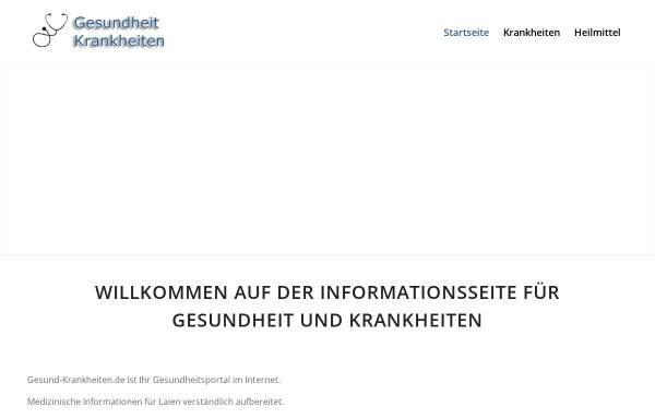 Vorschau von www.gesundheit-krankheiten.de, Gesundheit - Krankheiten - Informationen