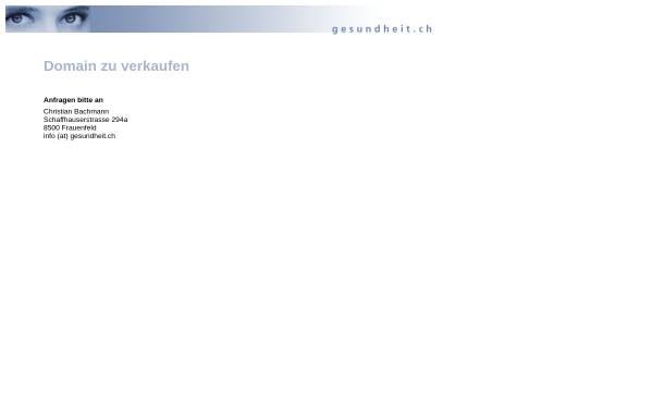 Vorschau von www.gesundheit.ch, Gesundheit.ch