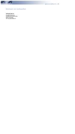 Vorschau der mobilen Webseite www.gesundheit.ch, Gesundheit.ch