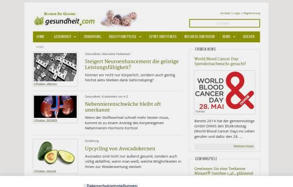 Vorschau von www.gesundheit.com, Gesundheit.com