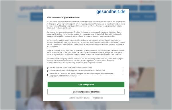Vorschau von www.gesundheit.de, Gesundheit.de