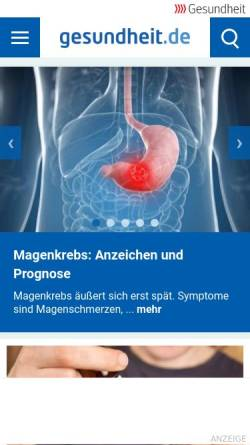 Vorschau der mobilen Webseite www.gesundheit.de, Gesundheit.de