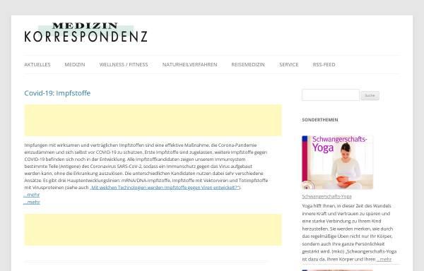 Vorschau von www.medizinkorrespondenz.de, Medizin Korrespondenz