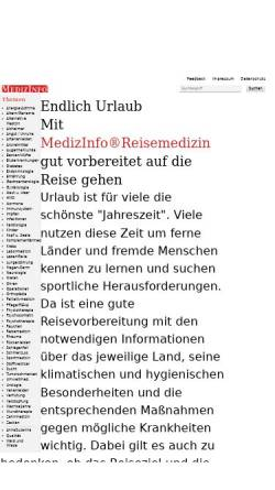Vorschau der mobilen Webseite www.medizinfo.de, MedizInfo