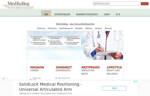 Vorschau von www.med-kolleg.de, Med-Kolleg