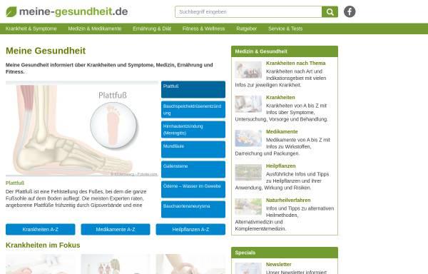 Vorschau von www.meine-gesundheit.de, Meine Gesundheit