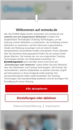 Vorschau der mobilen Webseite www.onmeda.de, Onmeda