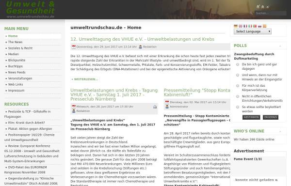 Vorschau von www.umweltrundschau.de, Umweltrundschau.de