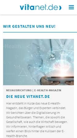 Vorschau der mobilen Webseite www.vitanet.de, Vitanet GmbH