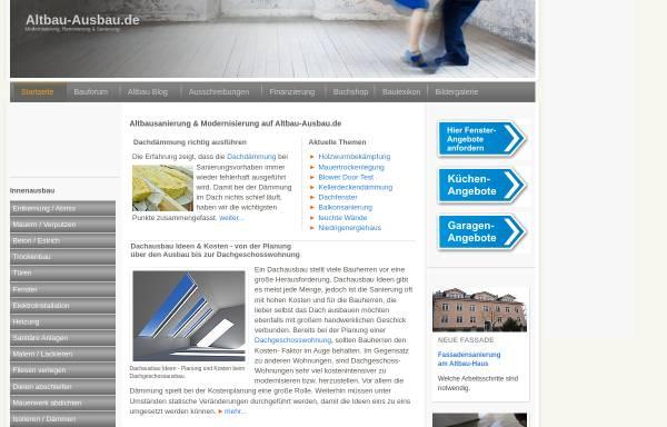 Vorschau von www.altbau-ausbau.de, Altbau-Ausbau