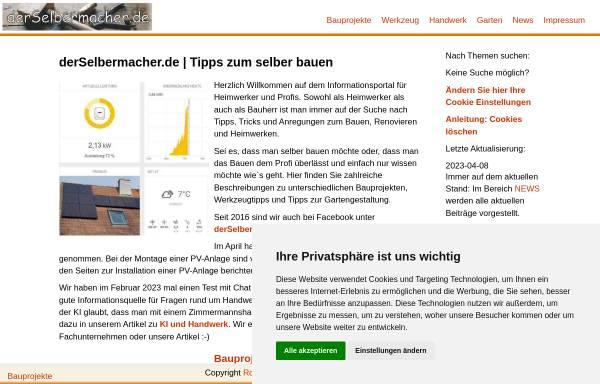 Vorschau von derselbermacher.de, DerSelbermacher.de