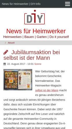 Vorschau der mobilen Webseite www.diy-link.de, DIY-Link.de